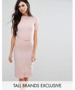 Alter Tall | Платье-Футляр С Разрезом Спереди И Ремнем Blush