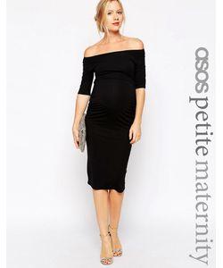 ASOS Maternity | Платье Для Беременных С Укороченными Рукавами Petite Черный