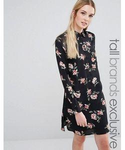 Fashion Union Tall | Платье-Рубашка С Цветочным Принтом
