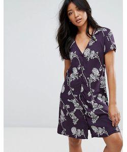 JDY | Платье На Пуговицах С Цветочным Принтом