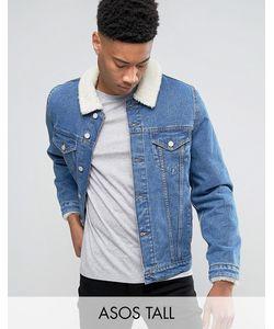 Asos | Выбеленная Джинсовая Куртка С Воротником Из Искусственного Меха Tall