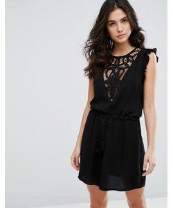 WYLDR | Платье С Кружевной Вставкой И Затягивающимся Шнурком На Талии Japlin