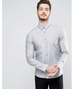Hugo   By Boss Ero 3 Shirt Collar Stripe Slim Fit
