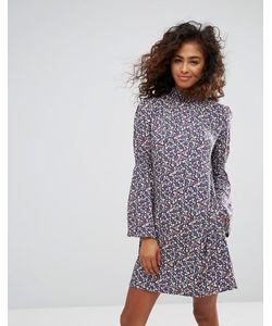 Esprit | Платье С Цветочным Принтом И Расклешенными Рукавами