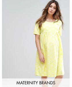 Mama Licious | Короткое Приталенное Платье В Горошек С Короткими Рукавами
