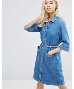 Mih Jeans | M.I.H Jeans Lola Denim Button Through Dress With Belt