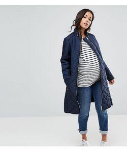 Mama Licious | Стеганая Куртка Со Вставкой