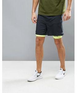 Nike Running | Черные Шорты 2 В 1 Nike 7 683288-010