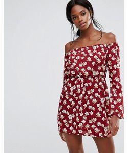 MISSGUIDED | Print Bardot Mini Dress