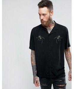 Asos | Рубашка Классического Кроя Из Вискозы С Узором Из Заклепок В Виде