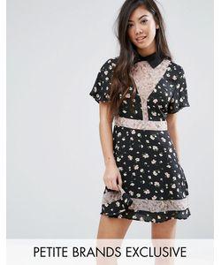 Fashion Union Petite   Короткое Приталенное Платье С Принтом
