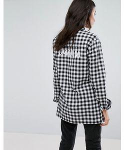 Daisy Street   Свободная Рубашка В Клетку С Вышивкой