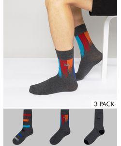 Pringle | Socks In 3 Pack With Stripe In