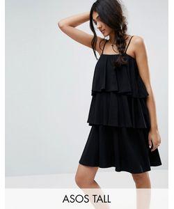 ASOS TALL | Ярусное Платье На Тонких Бретельках