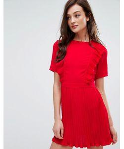 Fashion Union   Плиссированное Платье С Оборками