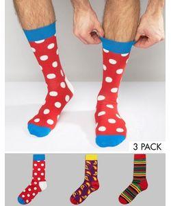 Happy Socks | 3 Пары Носков Hs By
