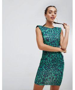 Asos | Платье Мини С Глубоким Вырезом На Спине И Звериным Принтом