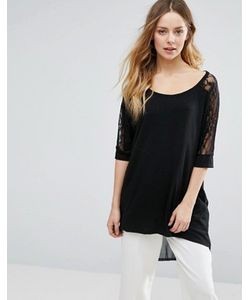 Jasmine | Oversized Top With Lace Sleeves