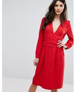 Ba&Sh | Красное Платье Миди