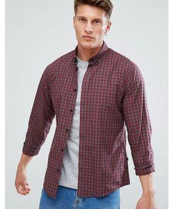 Solid | Рубашка В Клетку С Воротником На Пуговицах