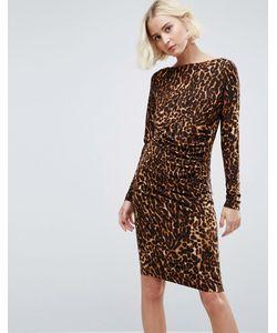 b.young | Цельнокройное Платье С Леопардовым Принтом