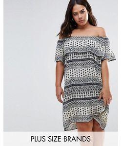 Diya | Платье С Открытыми Плечами И Оборками Plus