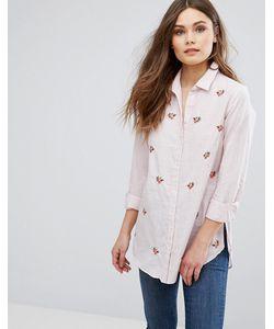 New Look | Рубашка В Полоску С Вышивкой