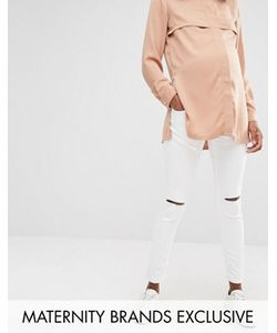 Missguided Maternity | Skinny Jean With Single Rip