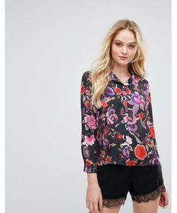 Love | Рубашка В Пижамном Стиле С Цветочным Принтом