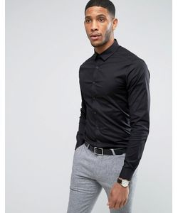 Asos | Черная Рубашка Скинни