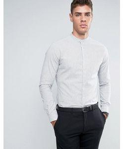 Asos | Приталенная Рубашка В Полоску С Воротником На Пуговице