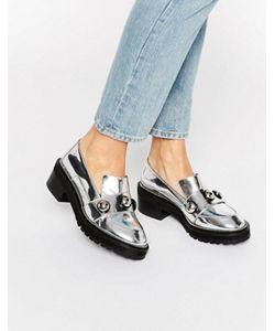 Kat Maconie | Серебристые Туфли На Толстой Плоской Подошве Salma