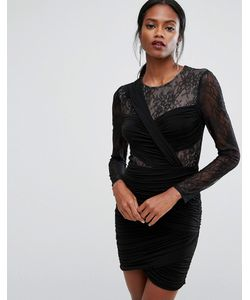 BCBGMAXAZRIA | Bcbg Maxazria Panelled Lace Mini Dress