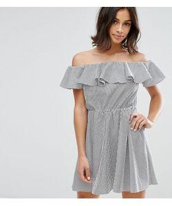 Miss Selfridge Petite | Платье Мини С Широким Вырезом И Оборкой
