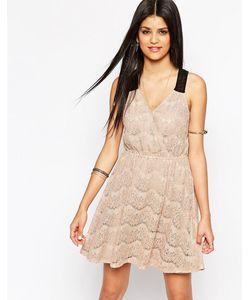 Hazel | Короткое Приталенное Кружевное Платье С Запахом