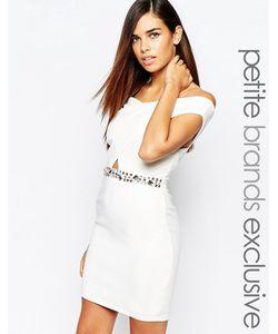 Lipstick Boutique Petite   Облегающее Платье С Запахом И Отделкой Камнями