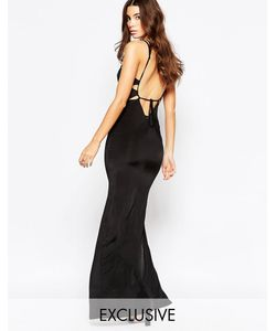 NaaNaa | Платье Макси С Открытой Спинкой Черный