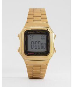 Casio   Цифровые Часы В Винтажном Стиле A178wga-1 Золотой