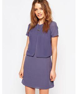 Maison Scotch   Фиолетовое Платье Два-В-Одном Фиолетовый