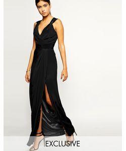 VLabel London | Платье С Глубоким Декольте И Разрезом На Юбке Palmers