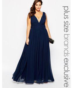 Forever Unique Plus | Платье Макси С Глубоким Вырезом