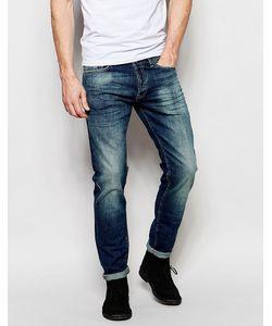 GAS Jeans | Прямые Джинсы Из Стираного Денима Gas Morris Синий