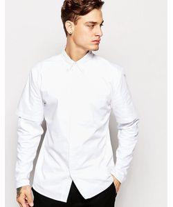 Standard Issue | Рубашка С Контрастной Трикотажной Кокеткой