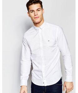 Tommy Hilfiger   Белая Оксфордская Рубашка Классического Кроя Белый