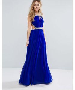 FOREVER UNIQUE | Платье Макси С Декоративной Отделкой Sax Blue