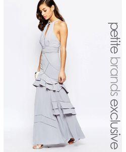 Jarlo Petite | Платье Макси С Многослойными Оборками Серый
