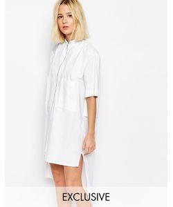 House of Sunny | Платье-Рубашка С Молнией Спереди Белый