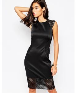 Little Black Dress | Платье С Кружевными Вставками Rachel Черный