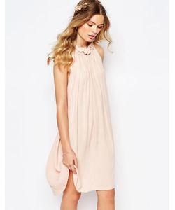 Darccy | Свободное Платье С Оборкой На Горловине Пыльно-Розовый