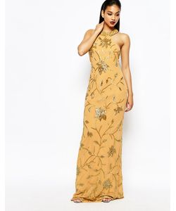 Virgos Lounge | Декорированное Платье Макси С Высокой Горловиной Norma